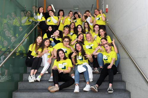 Schülerinnen der Polytechnischen Schule sind aktiv bei der Langen Nacht der Partizipation dabei! jugendornbirn/Horst Huber