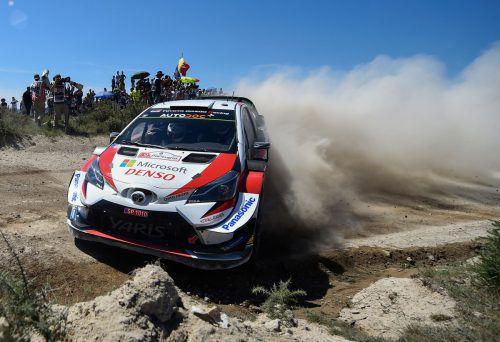 Schwieriger Sieg für Ott Tänak bei der Portugal-Rallye. In der WM liegt der Este nur mehr zwei Punkte hinter Sebastien Ogier.ap