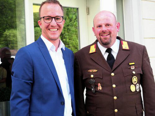 Sicherheitslandesrat Christian Gantner und Guntram Heinzle.