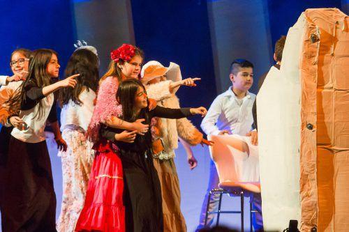 Sieben Schulklassen aus Dornbirn und Lustenau präsentieren ihr schauspielerisches Können an zwei Tagen im Kulturhaus Dornbirn.vn-archiv/Steu