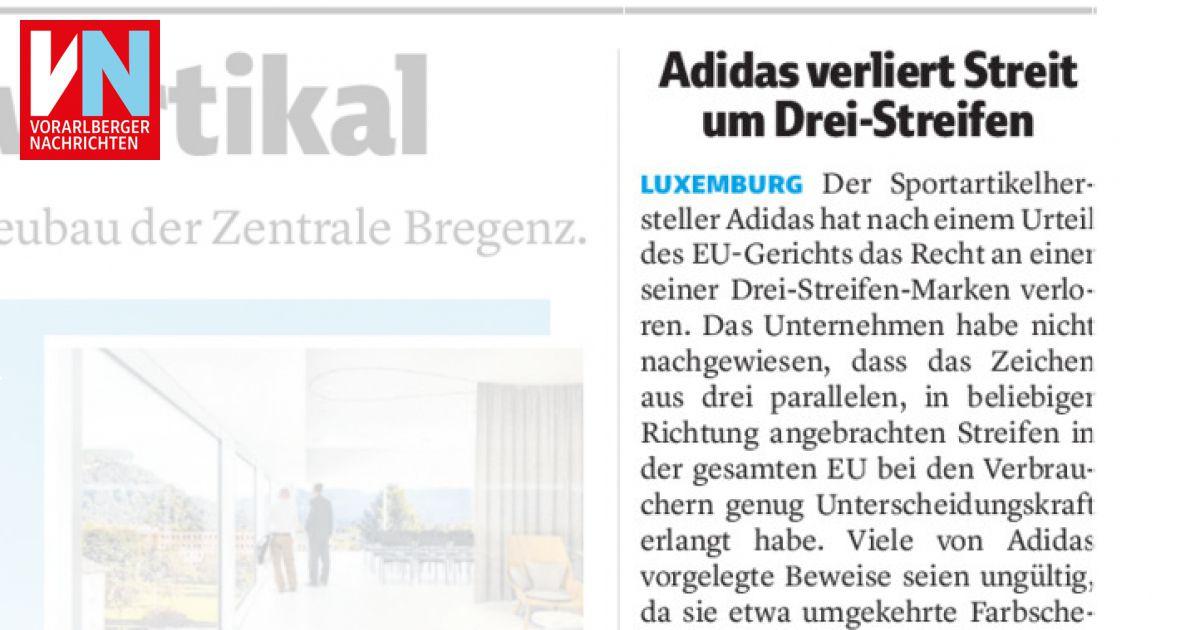 Adidas verliert Rechtsstreit um Drei Streifen Marke