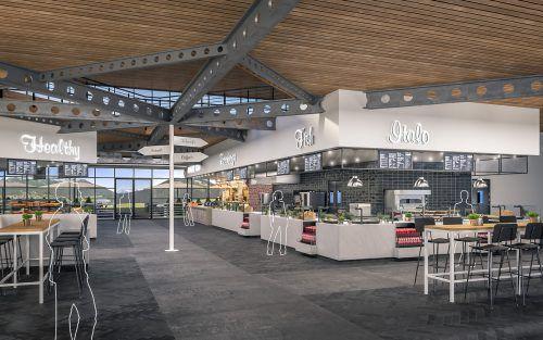 So könnte der neue Rosehill Foodpark in Hohenems aussehen. TQSR