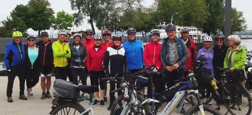 Start am Bregenzer Hafen zur klassischen kleinen Seentour. radteam