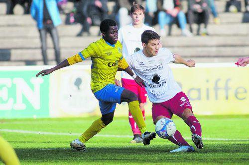Stehen sich heute im Cupfinale wieder gegenüber: der Emser Thomas Assiga und Dornbirns Christoph Domig.steurer