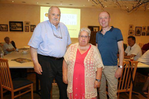Ulrich Rhomberg, Harald Rhomberg und Referentin Ursula Simmerle gaben Tipps zur Ahnenforschung. bin