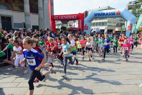 Um 16 Uhr starten die Kinder beim Dornbirner Stadtlauf. Stadt