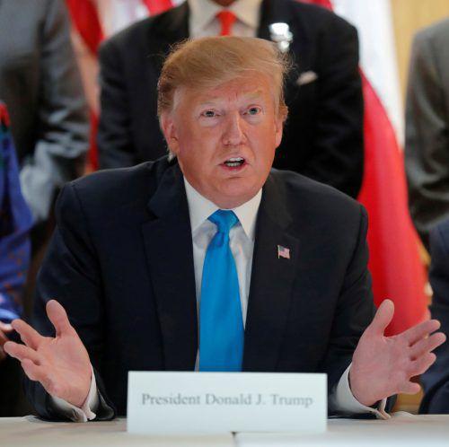 US-Präsident Trump verschärfte die Kontrollen gegen China.reuters