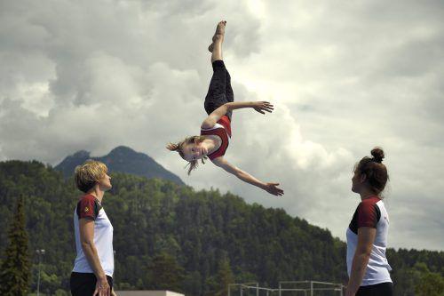 Voll im Training: Die Gymnaestrada-Besucher dürfen sich auf eine große Show freuen. TSZ