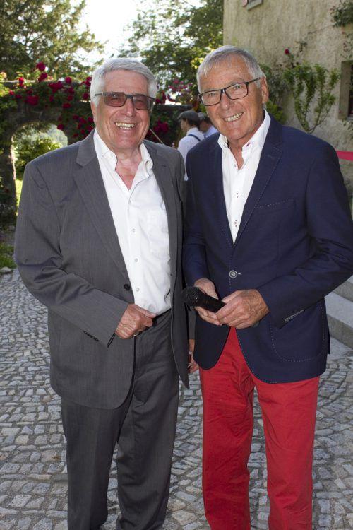 Vorstand August Stöhr (l.) unterhielt sich mit Günter Polanec.
