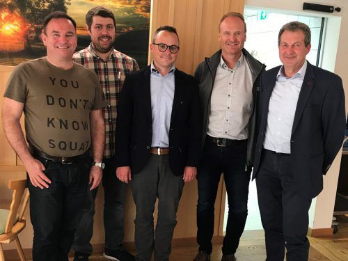 Vorstand Sozialsprengel Vorderwald: Patrick Fink (Beirat), Andreas Faißt (Beirat), GF Bernd Schuster, Guido Flatz (Obmannstv.), Gebhard Bechter (Obmann), es fehlt Beirätin Franziska Fink. me