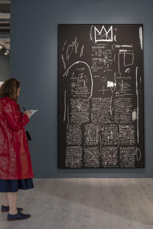 Werk von Jean-Michel Basquiat auf der Art Basel. ap/kefalas