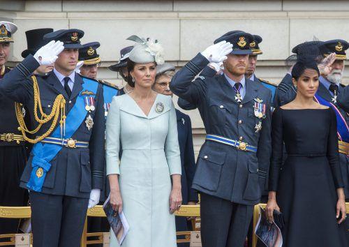 """William, Kate, Harry und Meghan: Britische Zeitungen priesen sie bereits als die """"Fab Four"""".AP"""