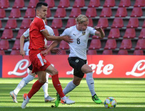 Xaver Schlager war die Lokomotive im österreichischen Spiel beim Sieg gegen Serbien.ap
