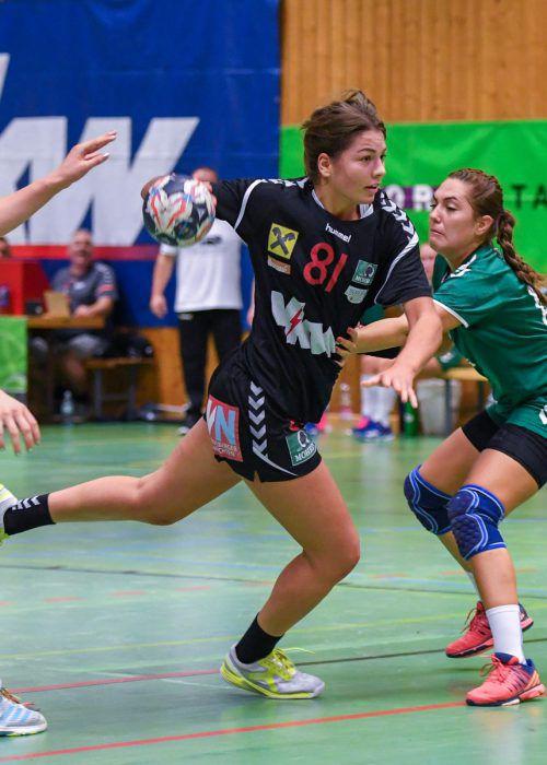 Adriana Marksteiner nähert sich mit 92 Treffern der 100-Tormarke.VN/Lerch