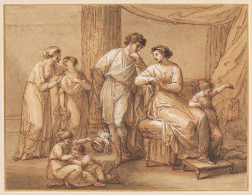 Aemilius Paullus mit seiner Frau und fünf Kindern, vor April 1783. Privatsammlung A. & S. G. AKRP.Adolf Bereuter
