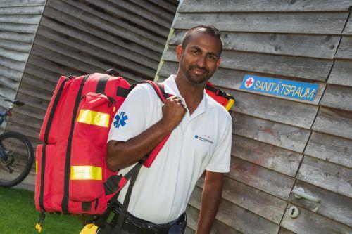 Ajay Schatzmann hat schon drei Menschen das Leben gerettet. VN/stiplovsek