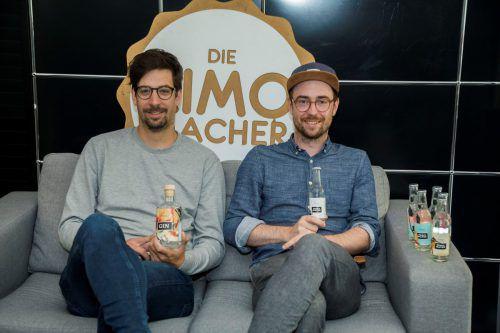 Alexander Thurnher (li.) und Julian Egle haben mit Limos und Gin den Geschmack getroffen. VN/Paulitsch