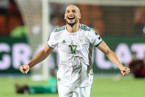 Algeriens Adlene Guedioura feiert den Finalsieg über Senegel.Reuters