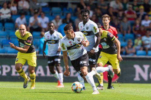 Altachs Manfred Fischer erzielte nicht nur einen wunderbaren Treffer zum 1:1, sondern war über die gesamte Spielzeit immer ein Aktivposten im Spiel der Rheindörfler.vn
