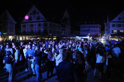 Am Dornbirner Markt wird am Freitag bei der Silent Disco getanzt. VN