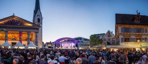 Am Marktplatz Dornbirn wird bis Ende August viel Unterhaltungsprogramm angeboten.Dornbirn Tourismus