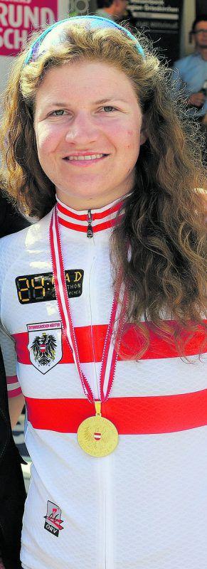 Anna Bachmann ist österreichische Titelträgerin im Ultra-Radsport.B-rundschau
