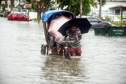 Auch für die kommenden Tage ist keine Wetterbesserung in Sicht. AFP