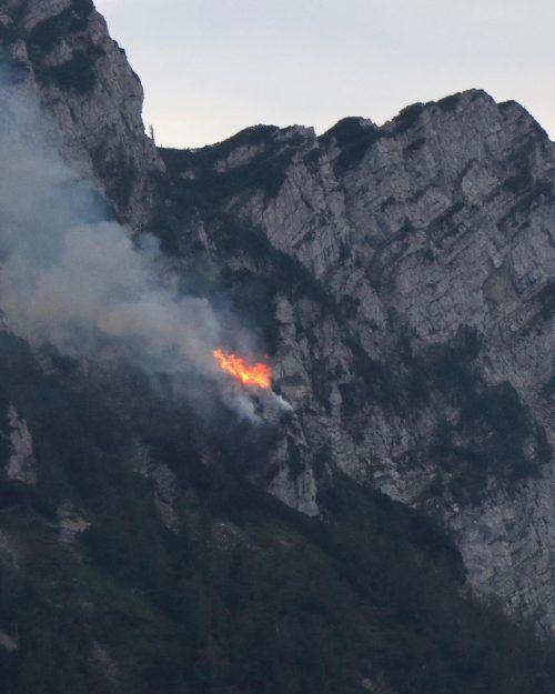 Auslöser für den Brand auf 1450 Meter Seehöhe dürfte Blitzschlag gewesen sein. APa