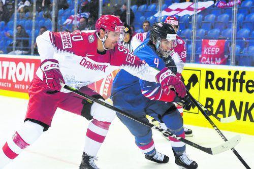 Bei der A-WM in der Slowakei gehörte Mathias Bau Hansen – im Bild gegen den Briten Stephen Lee - zu Dänemarks Stützen. apa