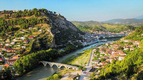 Berat ist eine der schönsten Städte Albaniens. Neubauten sind streng verboten.