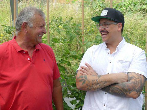 Bewährte Partnerschaft: Gärtner Kaspar Feurstein und Koch Michael Garcia-Lopez. me
