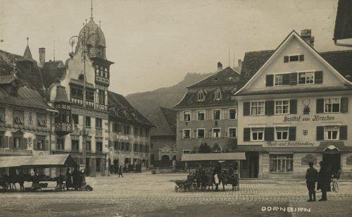 Blick auf den Marktplatz vor dem Jahr 1925.