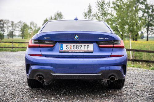 BMW hat beim 3er ein aggressiv-schönes Heck geschaffen. VN/Sams