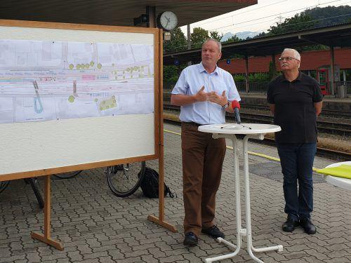 Bürgermeister Christian Loacker und Gemeinderat Walter Heinzle fordern rasche Planung und Umsetzung des Bauvorhabens. Marktgemeinde