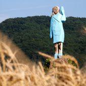 Holzskulptur für Melania Trump