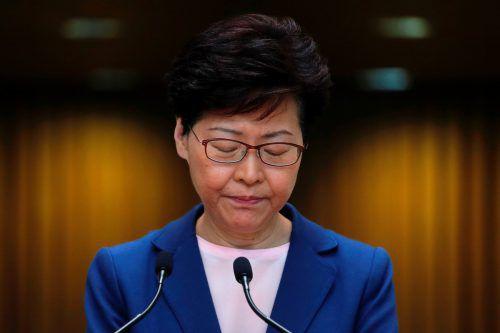 """""""Das Gesetz ist gestorben"""", sagte Regierungschefin Lam. reuters"""
