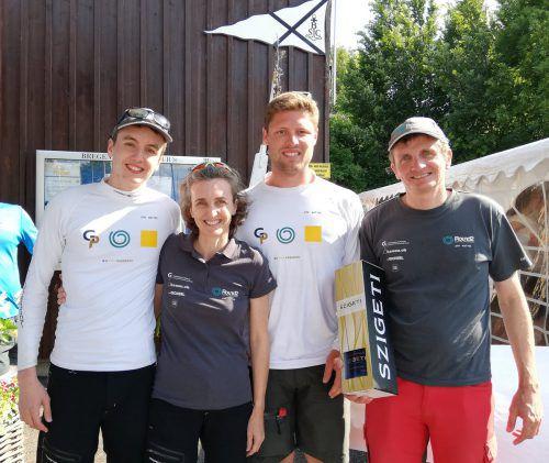 """Das siegreiche Team auf der """"Round2"""": Elias Diem, Maria Diem, Martin Jäger und Klaus Diem (v.l.n.r.).VEREIN"""