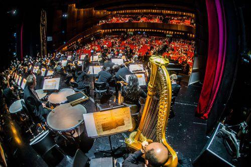 Das Spitzenorchester präsentiert sich mit seinen Ensembles im öffentlichen Raum.vN/Steurer