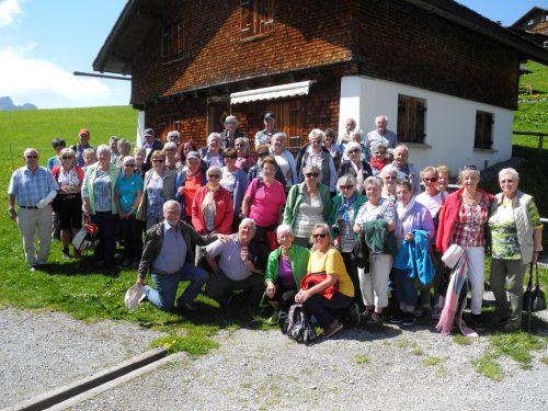 Das Wetter meinte es sichtlich gut mit den Teilnehmern des Ausfluges.sr 50+