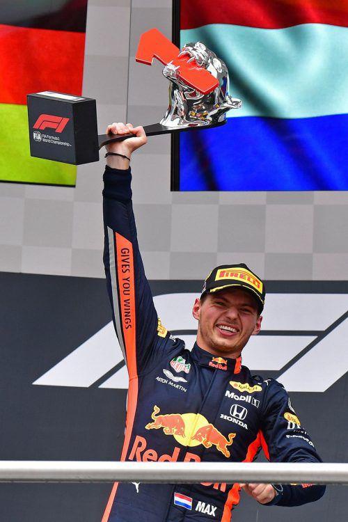 Das Wetter war der Verbündete von Max Verstappen, der Niederländer feierte im Red Bull in Hockenheim seinen zweiten Saisonerfolg. apa