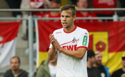 Der Ex-Rapidler Louis Schaub erzielte für Köln zuhause gegen Paderborn das 3:0.GEPA