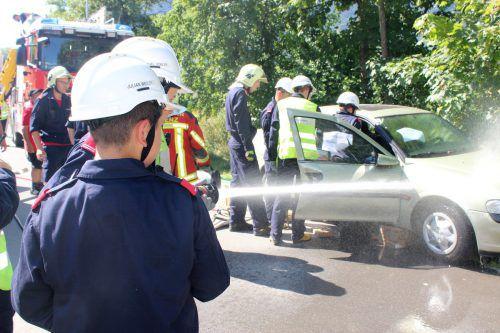 Der Bludenzer Feuerwehrnachwuchs wurde im Rahmen des 24-Stunden-Tages zu sechs Einsätzen gerufen.VN/JS