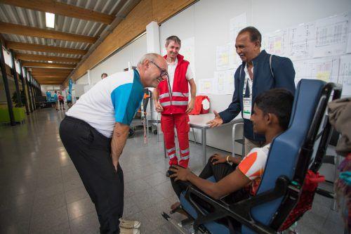 Der Dornbirner Arzt Dr. Robert Spiegel behält im Medical Center auf dem Messegelände den Überblick. VN/Steurer
