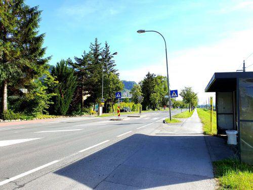 Der erste Abschnitt des Radwegs wird ab Montag verbreitert. Stadt Hohenems