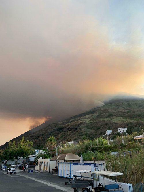Der italienische Vulkan Stromboli ist am Mittwoch ausgebrochen. AP