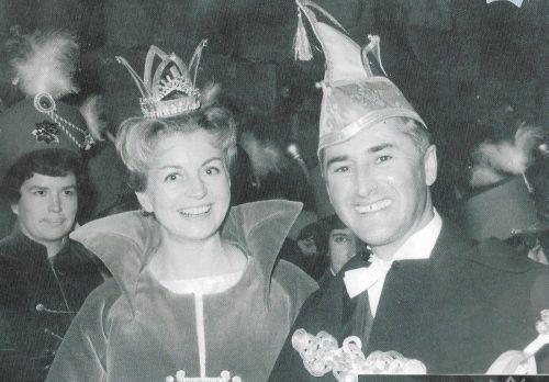 Der Jubilar und seine Frau Irma 1963: Prinz Ore VI. und Prinzessin Irma I.