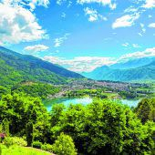 Die Seen Caldonazza und Levico