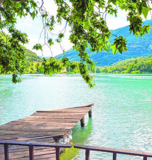 Der Lago di Toblino liegt 23 Kilometer nördlich von Riva des Garda und ist eine beliebte Hochzeitslocation. Shutterstock (5)