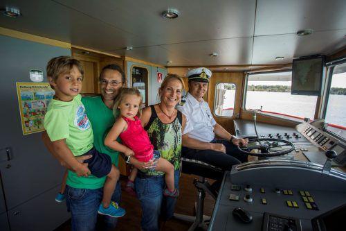Der Spaß kam bei niemandem zu kurz, Familie Neyer aus Nüziders schaute bei Kapitän Luis Wüstner vorbei.