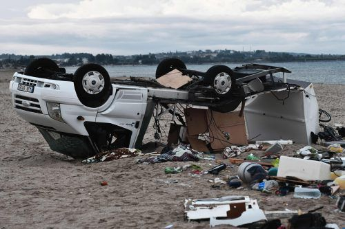 Der Sturm hinterließ eine Spur der Verwüstung. AFP